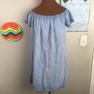 CLOTH & STONE off the shoulder chambray tunic